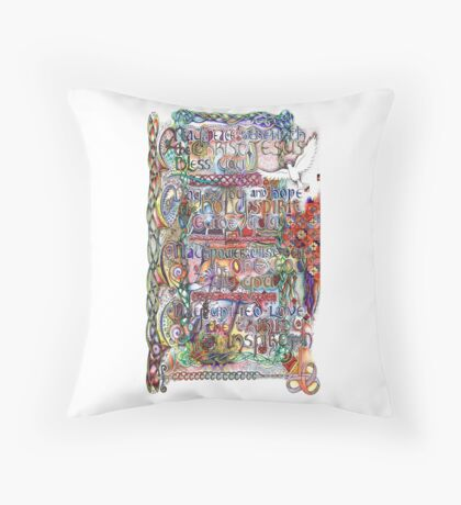 Peace and Strength Throw Pillow