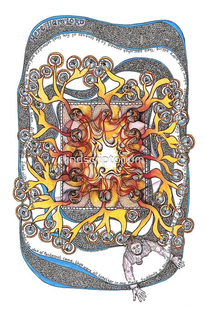 Pentecost by lindscriptorium