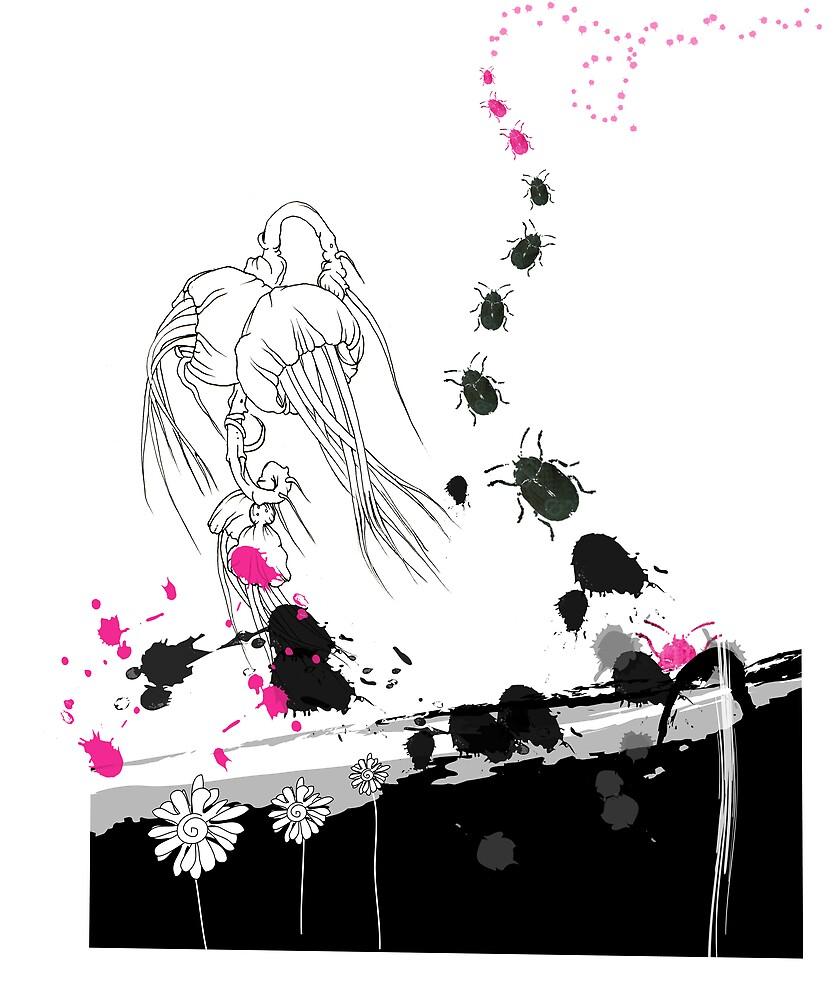 The ink splat bugs by DoodleKaz