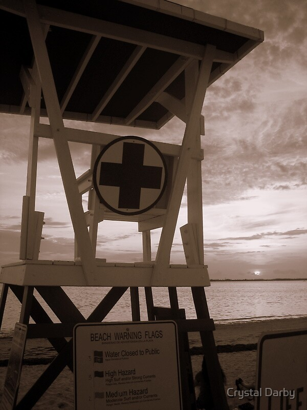 lifeguard stand by Crystal Darby