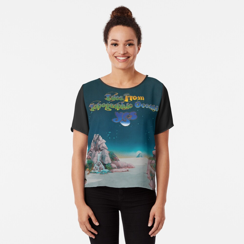 Yes - Tales from Topographic Oceans Logo Chiffon Top