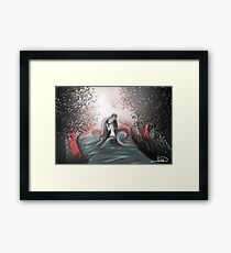 The Swan Curse - SwanFire Framed Print