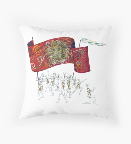 People of the Lion Throw Pillow
