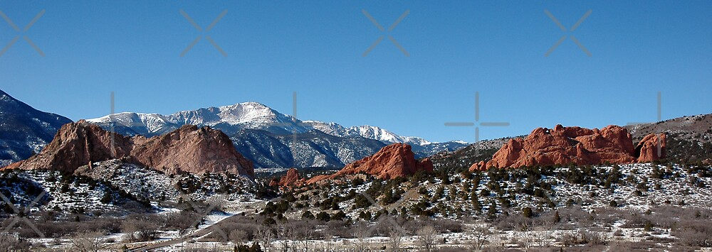 Garden of the Gods and Pikes Peak by Holly Werner