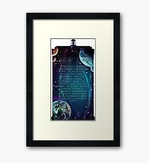 There are worlds out there Framed Print