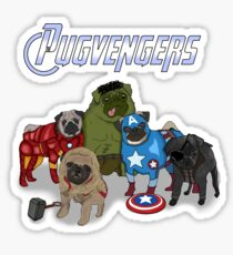 The Pugvengers Sticker