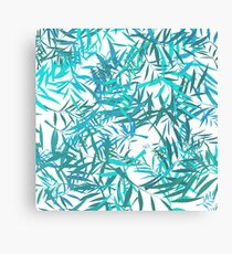 Blue Willow Leaves Canvas Print