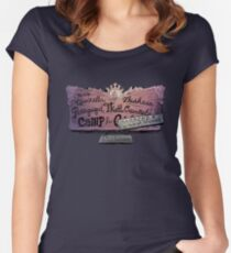 Miss Qiunzella Thiskwin Penniquiqul Thistle Crumpet's Camp for Hardcore Lady Types Women's Fitted Scoop T-Shirt