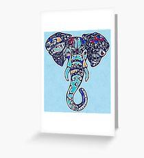 Digital Elephant Illustration Greeting Card