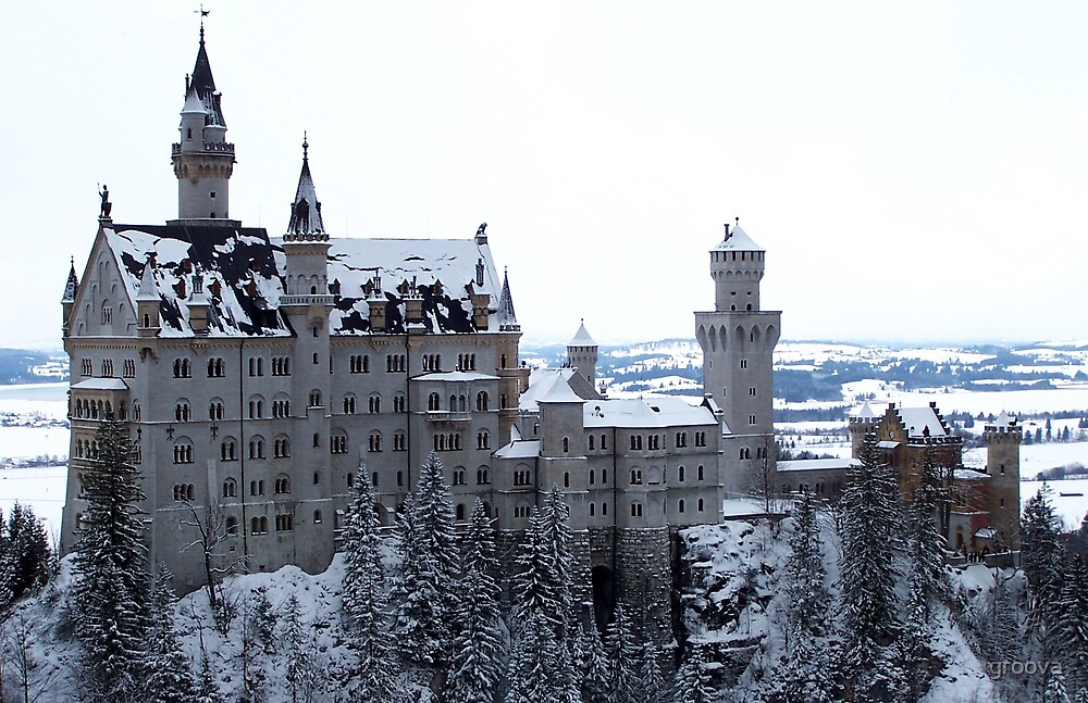 Neu Schwanstein in Winter by groova