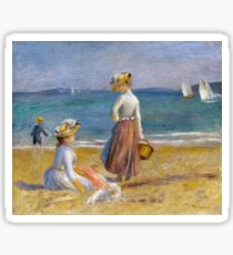 Auguste Renoir - Figures On The Beach Sticker