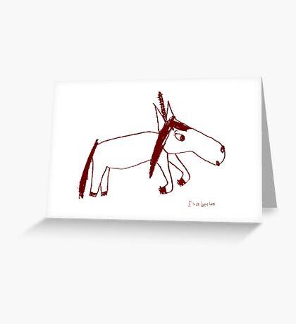 Unicorn Unadorned -by Isabella Greeting Card