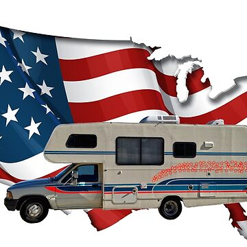 Camp America Toyota Motorhome Flag by ButchPetty