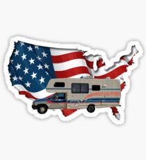 Camp America Toyota Motorhome Flag Sticker