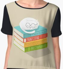 The Cat Loves Books Chiffon Top