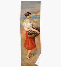 Auguste Renoir - Girl With A Basket Of Fish Poster