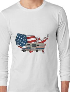 Camp America Toyota Motorhome Flag Long Sleeve T-Shirt