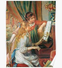 Auguste Renoir - Girls At The Piano 1892 Poster