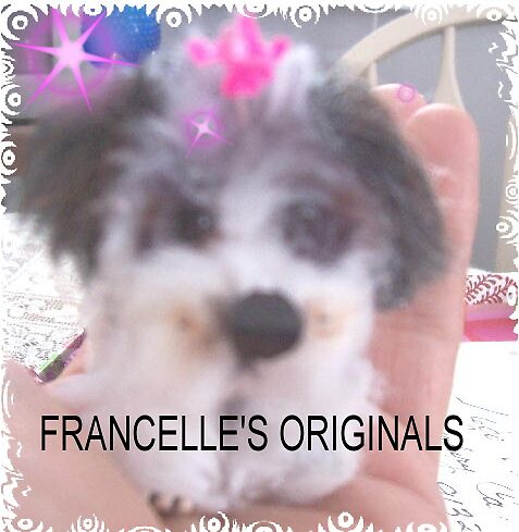 muffy   the faux fur miniature pup by francelle  huffman