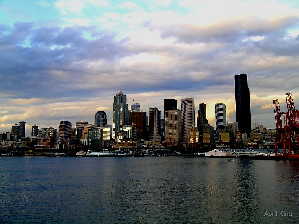 Seattle Skyline by April King