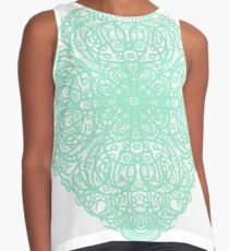 Mint Mandala - Diamond  Lace Pattern Contrast Tank