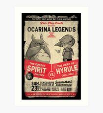 Ocarina Legends Art Print