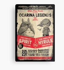 Lienzo metálico Ocarina Legends
