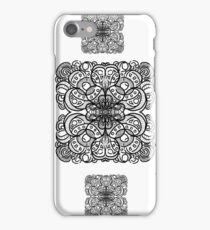 Square Inked Mandala Pattern iPhone Case/Skin