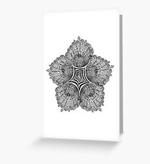 Floral Mandala with Swirl Centre - Inking Greeting Card