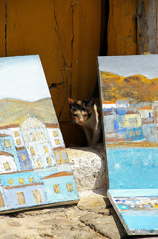 Artistic Feline by Geoff White