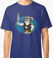 Dovahkiin Vault boy mash-up Skyrim/Fallout Parody Classic T-Shirt