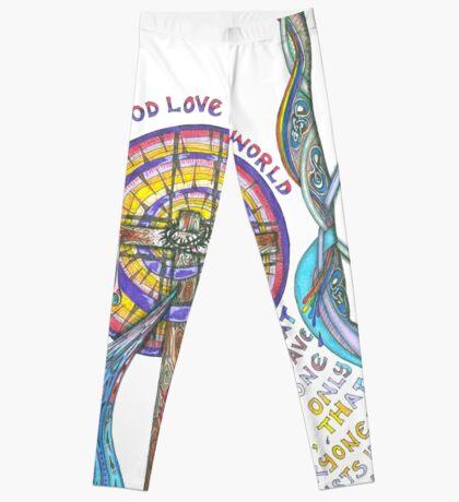 So Greatly Did God Love Leggings