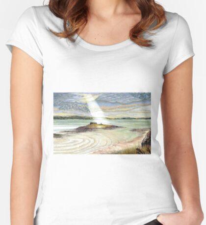 St. Cuthbert's Island, Holy Island Women's Fitted Scoop T-Shirt