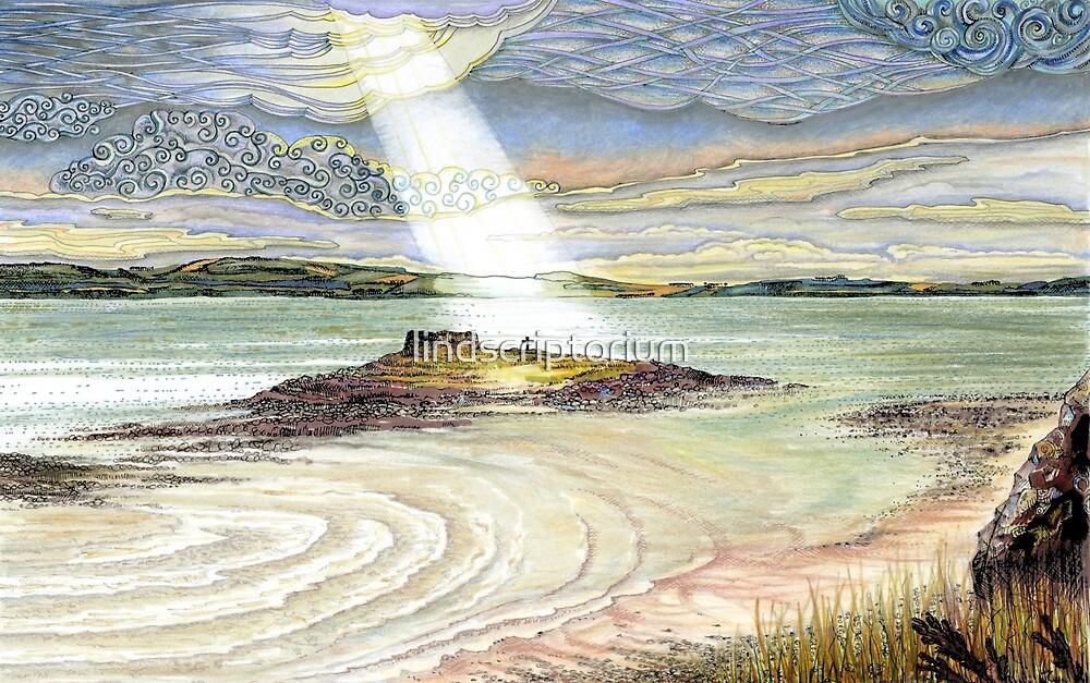 St. Cuthbert's Island, Holy Island by lindscriptorium