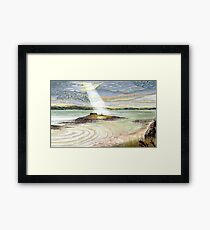 St. Cuthbert's Island, Holy Island Framed Print