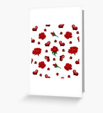 Seamless Pattern with Roses and Hearts for Valentine's Day, Wedding Greeting Card