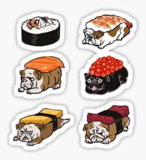 Sushi English Bulldog Sticker