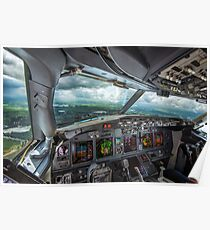 Stormy approach towards Amsterdam Poster
