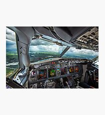 Stormy approach towards Amsterdam Photographic Print