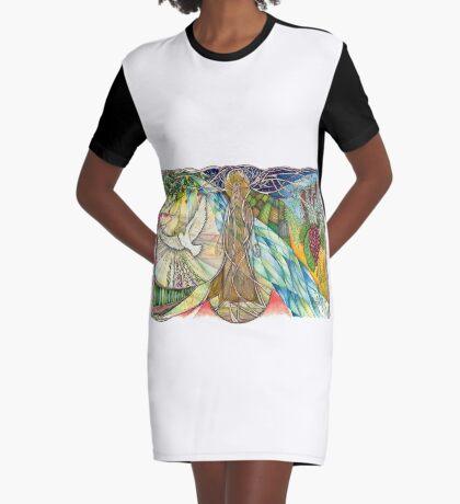 Tree Of Life Graphic T-Shirt Dress