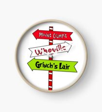 Whoville signs Clock