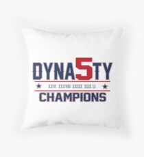 New England Dynasty - 5x Champions Throw Pillow