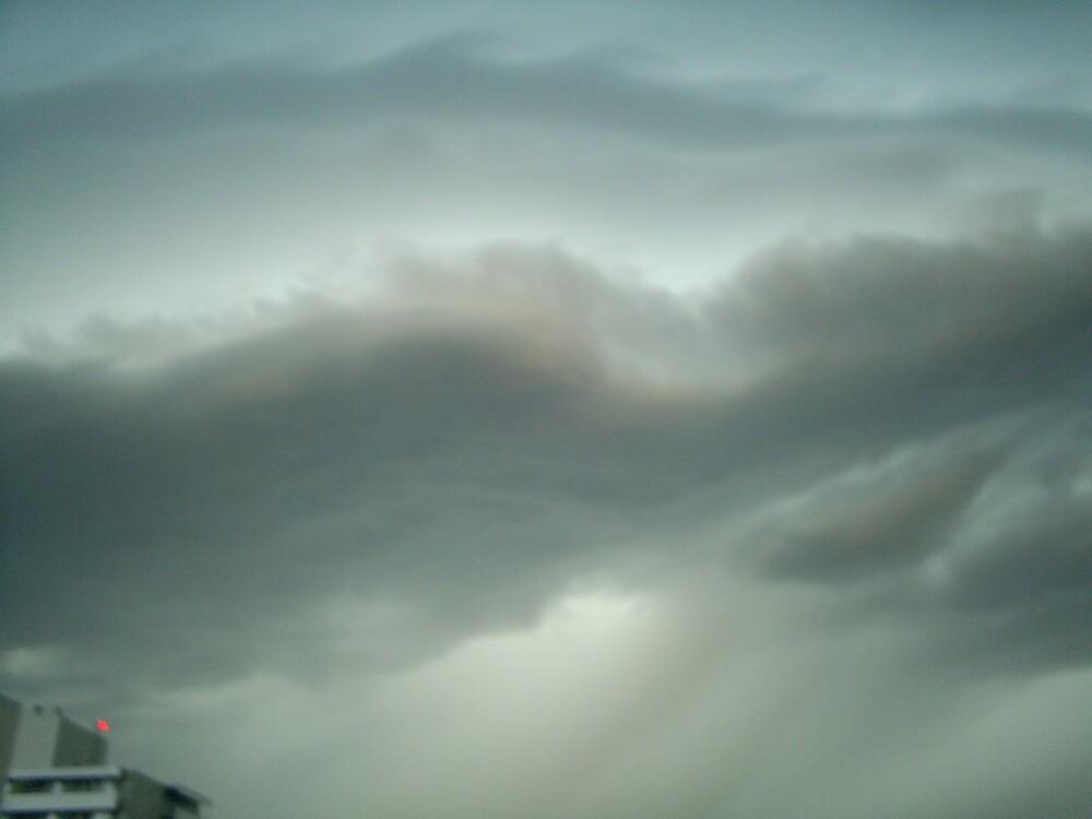 very strange thunder clouds by oilersfan11
