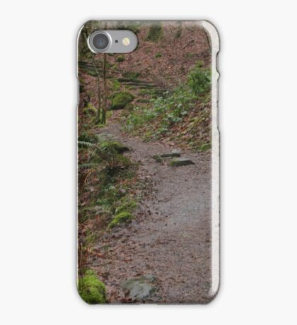 Up the woodland path iPhone Case/Skin