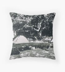 Temporary Home. Tremadog, Wales Throw Pillow