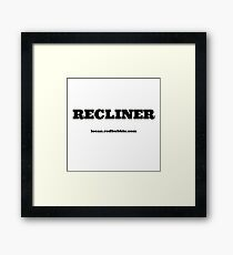 RECLINER Framed Print