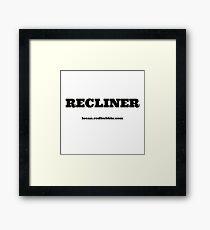 RECLINER Framed Print