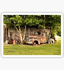 """""""Old Clunker, The Side View""""... prints and products Sticker"""