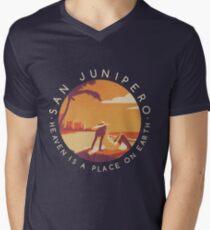 Black Mirror: San Junipero - Vintage Style Men's V-Neck T-Shirt
