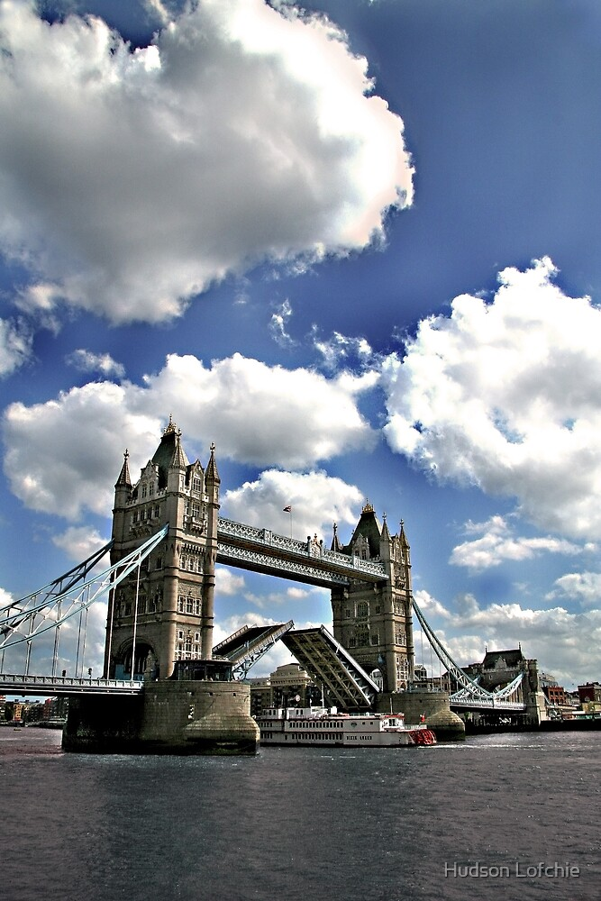 Tower Bridge - Open by Hudson Lofchie